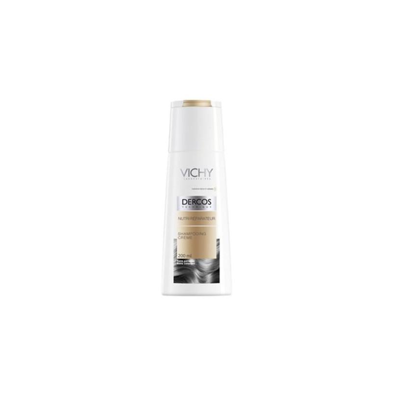 Vichy Dercos Shampoo Nutri-Riparatore Capelli Secchi e Danneggiati 200 ml