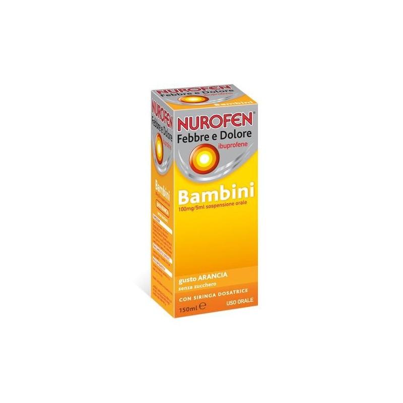 Nurofen Febbre e Dolore Bambini Sospensione orale Arancia 150 ml