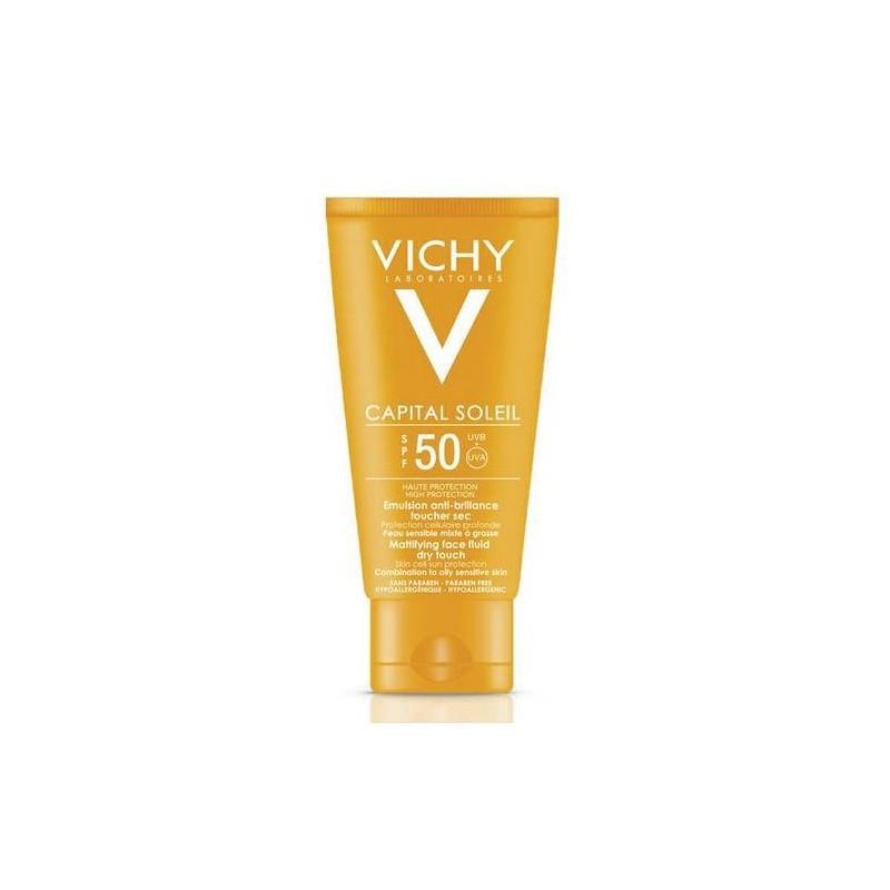 Vichy Ideal Soleil Crema Solare Viso Pelle Grassa SPF 50+ Protezione Molto Alta 50 ml