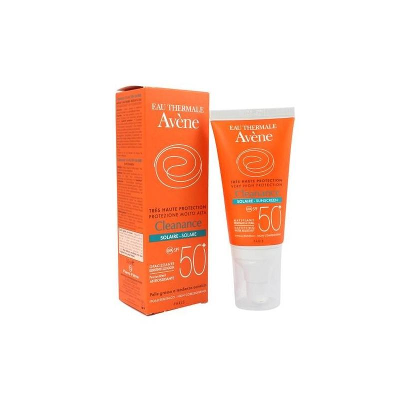 Avène Solare Cleanance Crema Protezione Pelle Acneica SPF 50+ 50 ml