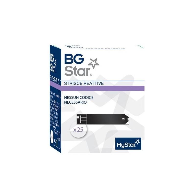 BGStar My Star Extra Strisce Reattive Glicemia 25 Pezzi