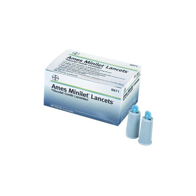 Bayer Microlet Lancette Pungidito Colorate 25 Pezzi