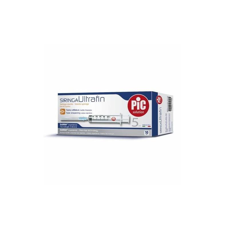 Pic Siringa Ultrafine Sterile 5 ml 10 Pezzi
