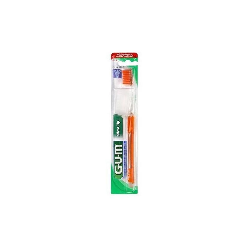 Gum MicroTip 471 Spazzolino Setole Morbide Compact
