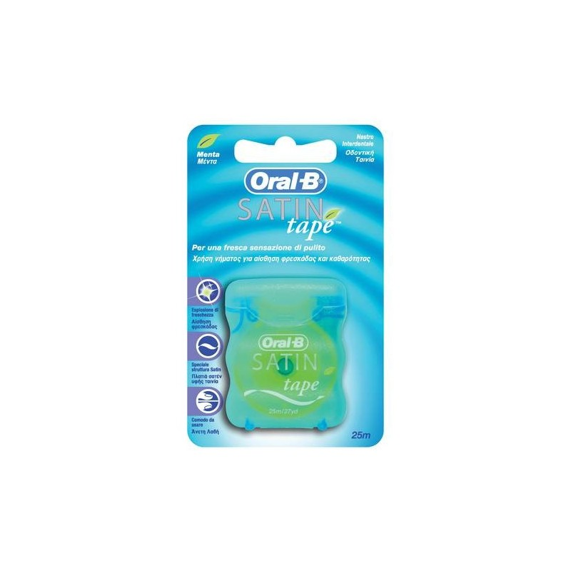 Oral-B Satintape Filo Interdentale alla Menta 25 metri