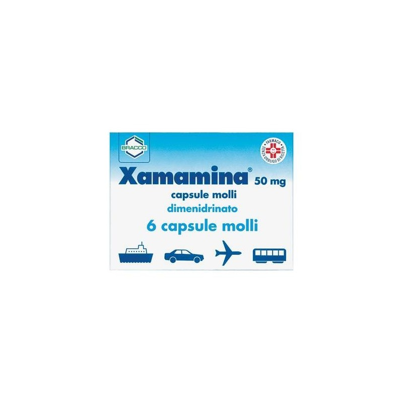 Xamamina 50 mg Dimenidrato Antiemetico 6 Capsule Molli