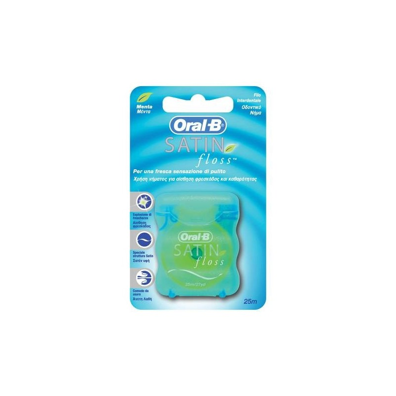 Oral-B Satin Floss Filo Interdentale Igiene Orale 25 Mt