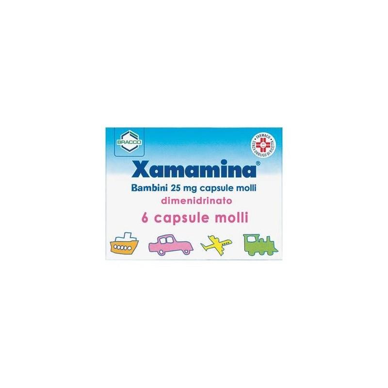 Xamamina Bambini 25 mg Dimenidrato Antiemetico 6 Capsule Molli