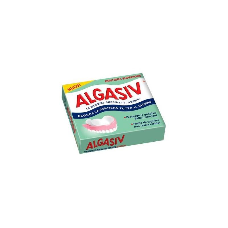 Algasiv Cuscinetti Adesivi Naturali Per Dentiera Superiore 15 Pezzi