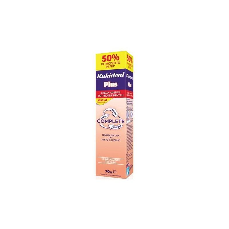 Kukident Plus Complete Crema Adesiva Protesi Dentali 70g