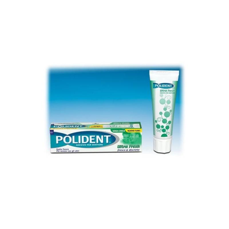 Polident Ultra Fresh Crema Adesiva per Dentiere 40g