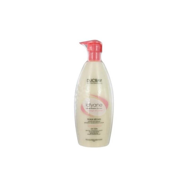 Ducray Ictyane Detergente Delicato Viso e Corpo Idratante Pelle Secca 500 ml