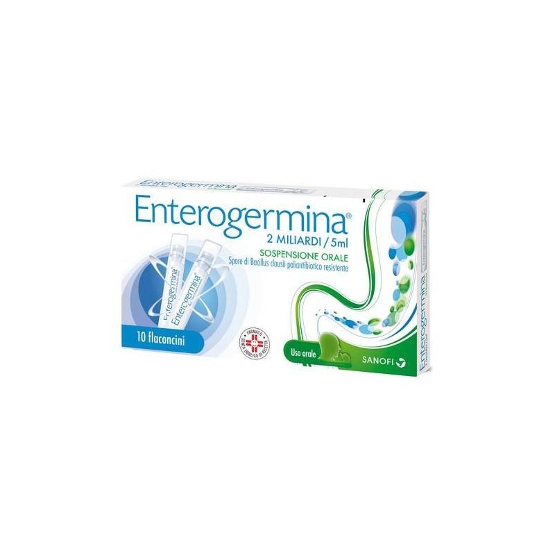 Enterogermina 2 Miliardi Fermenti Lattici Bacillus Clausii 5ml 10 Flaconcini