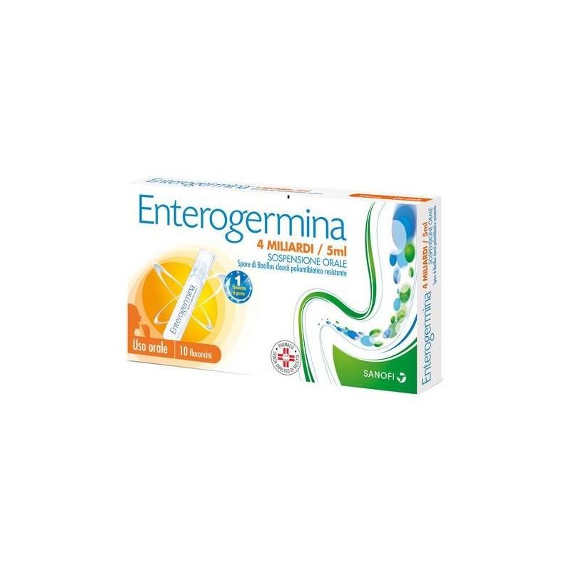 Enterogermina 4 Miliardi Fermenti Lattici Bacillus Clausii 5ml 10 Flaconcini