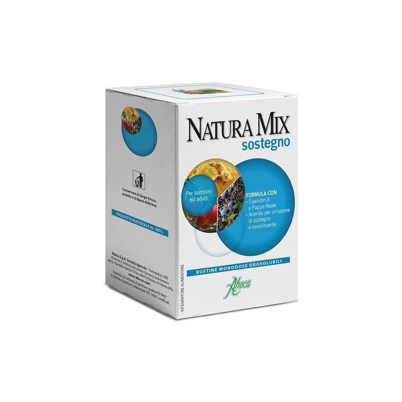 Aboca Natura Mix Sostegno Integratore Ricostituente 20 Buste Orosolubili