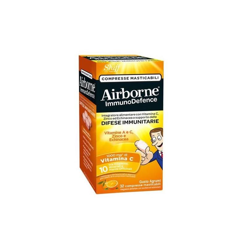 Airborne Immunodefence Integratore Difese Immunitarie 32 Compresse Masticabili Gusto Agrumi