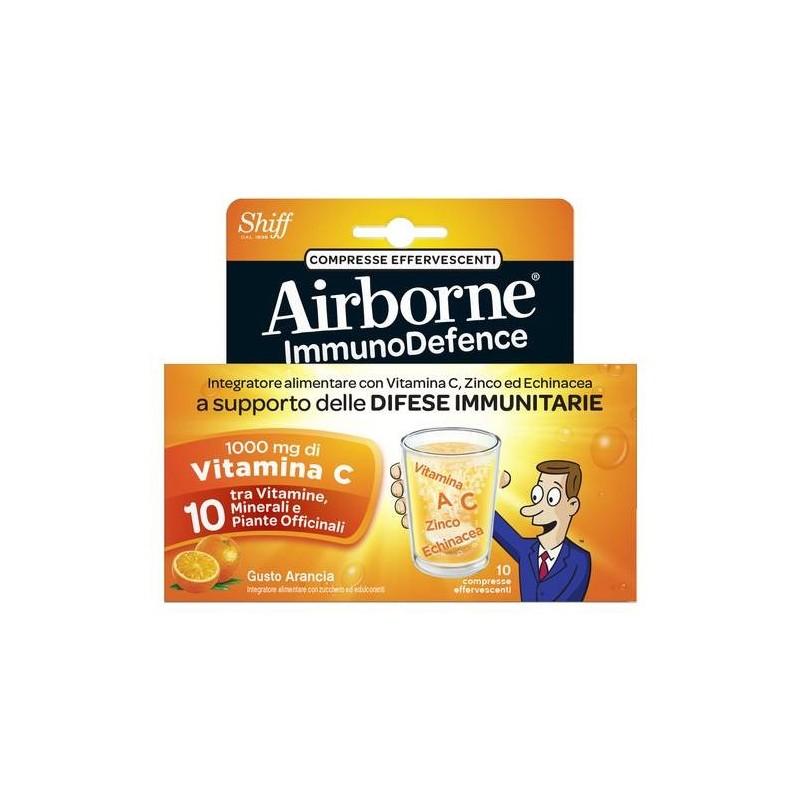 Airborne Immunodefence Integratore Difese Immunitarie 10 Compresse Effervescenti Gusto Arancia