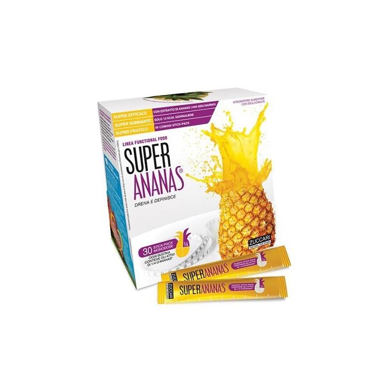 Zuccari Super Ananas Integratore Drenante 30 Stick-Pack da 10 ml