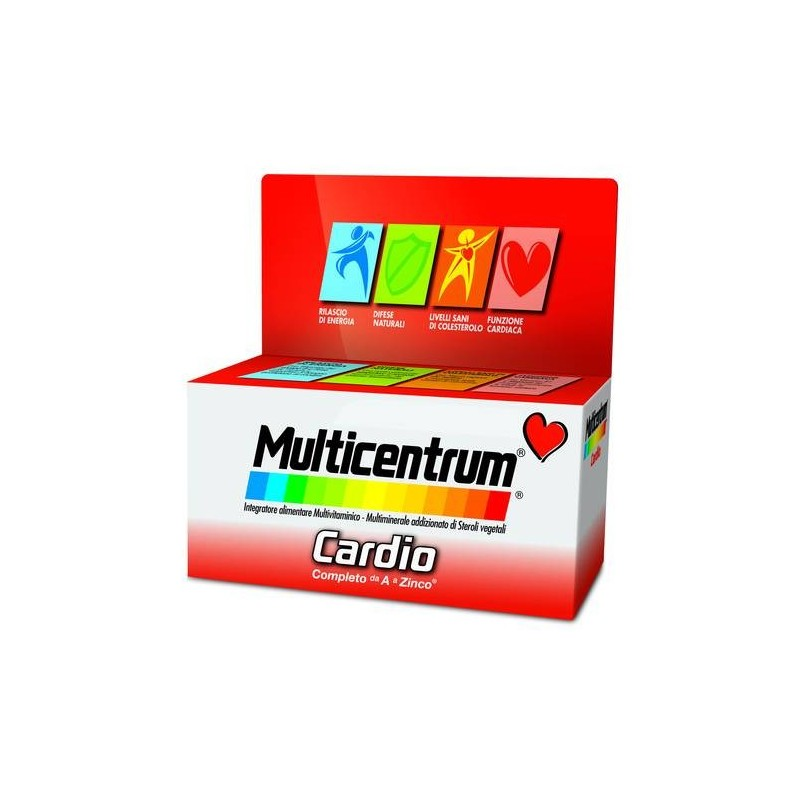 Multicentrum Cardio Integratore Multivitaminico Multiminerale 60 Compresse