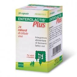 Enterolactis Plus Integratore Fermenti Lattici Vivi 20 Capsule