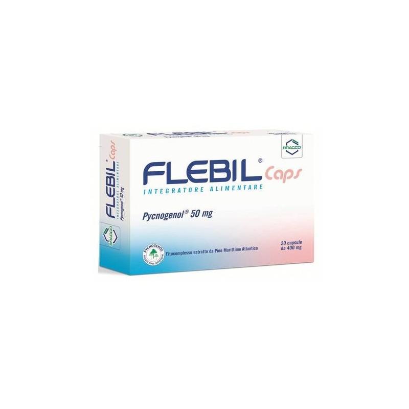 Flebil Caps Integratore Flebotonico Circolatorio con Pycogenolo 20 Capsule