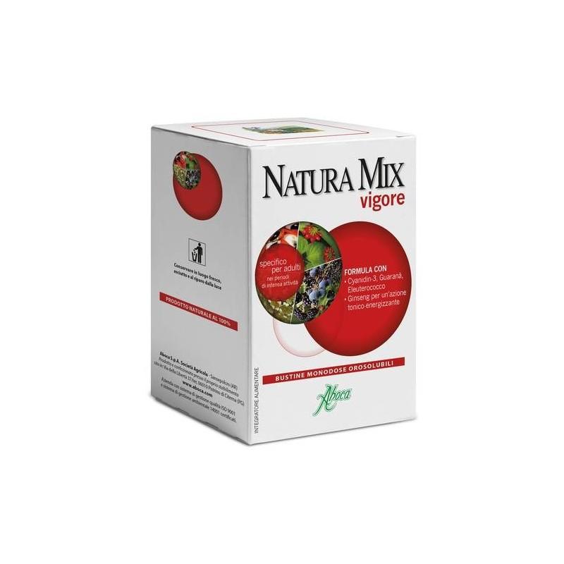 Aboca Natura Mix Vigore Integratore Energizzante 20 Bustine