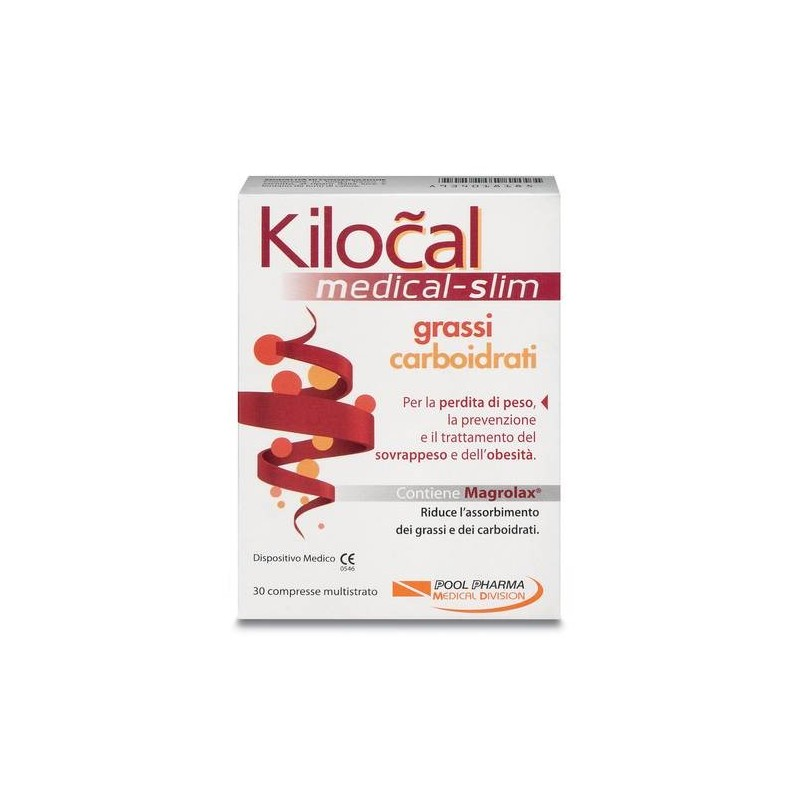 Kilocal Medical Slim Grassi E Carboidrati 30 Compresse