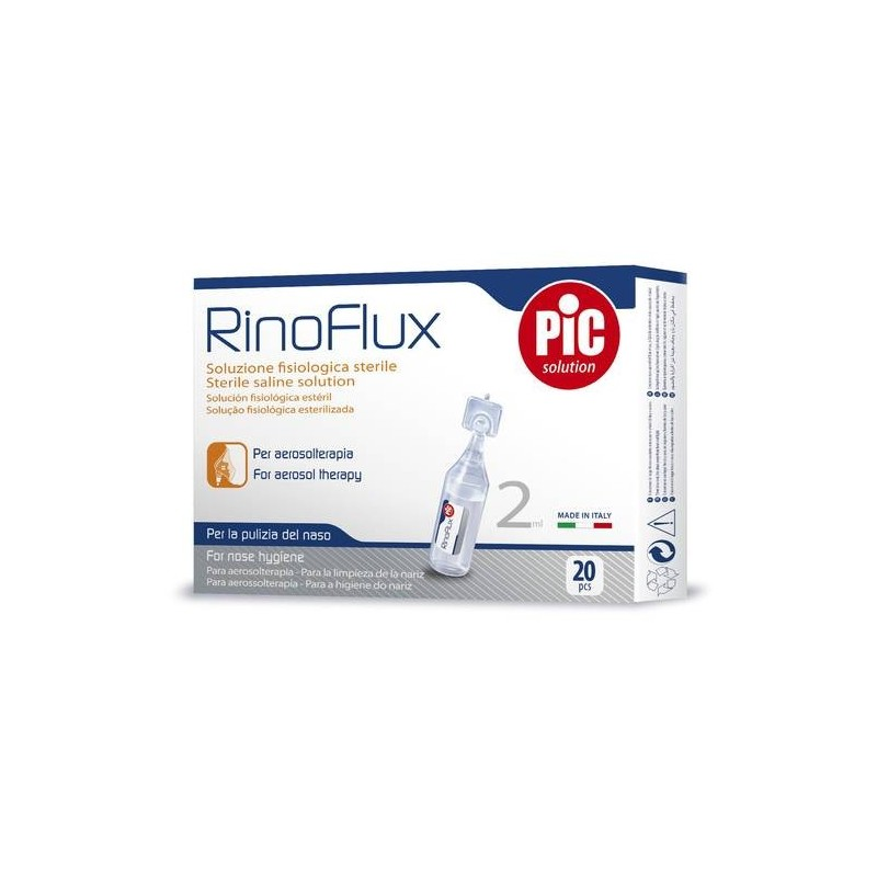Pic Rinoflux Soluzione Fisiologica Per Aerosol 20 Flaconcini