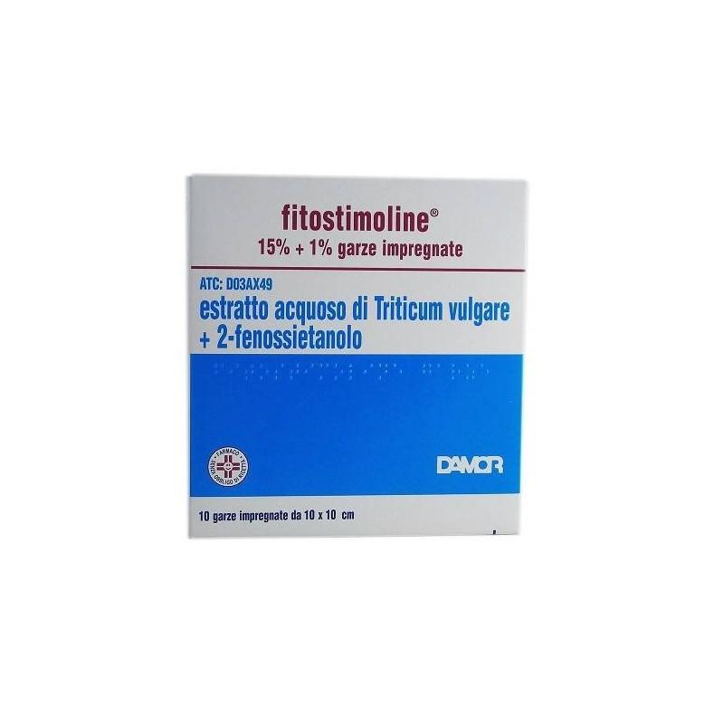 Fitostimoline 15% Garze Impregnate Estratto Acquoso Di Triticum Vulgare 10 Garze