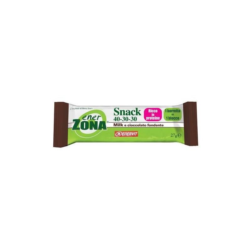 Enerzona Snack 40 30 30 Milk E Cioccolato Fondente 1 Barretta 27g