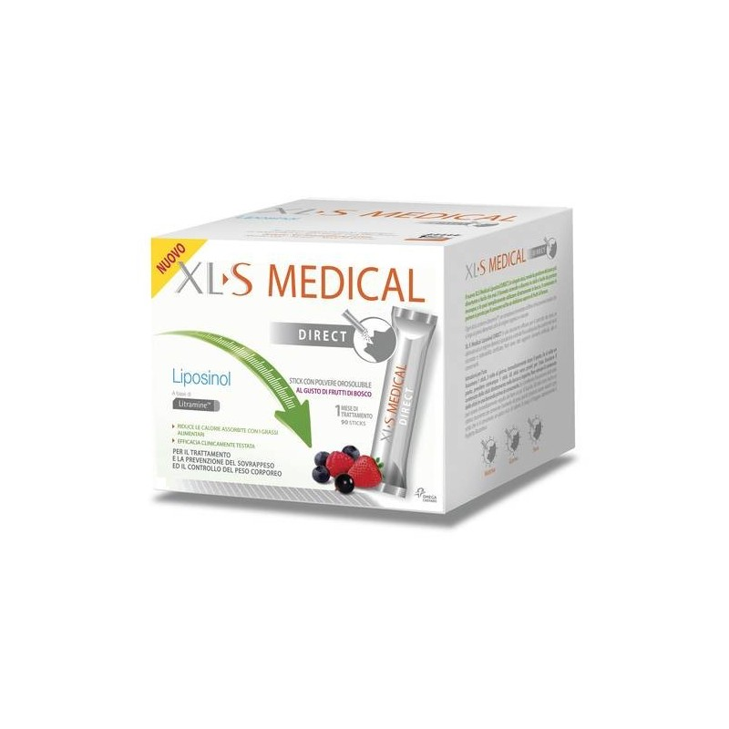 XLS Medical Liposinol Direct Dimagrante 90 Bustine Gusto Frutto di Bosco