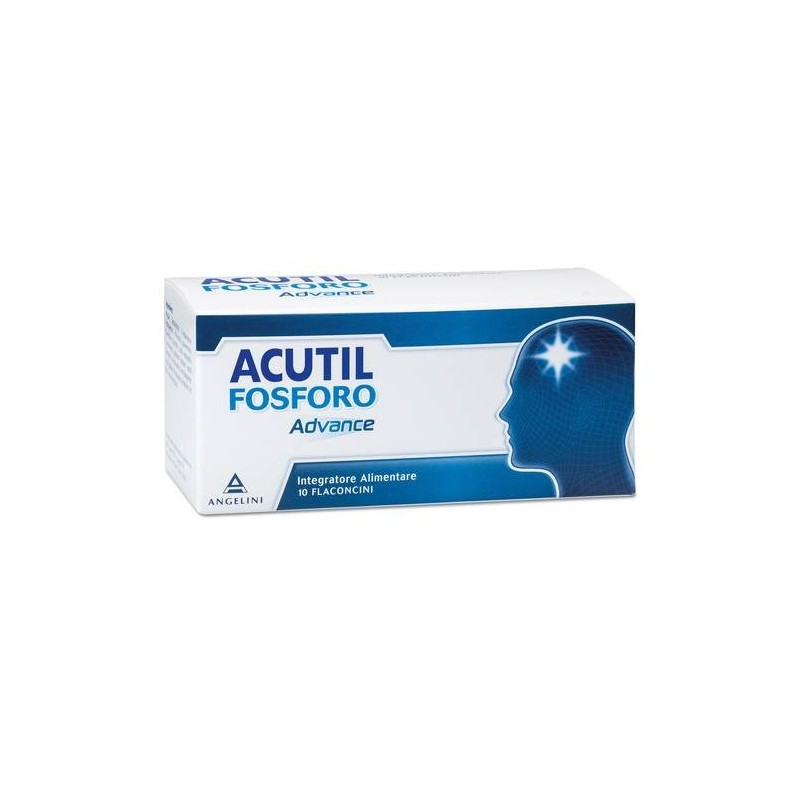 Acutil Fosforo Advance Integratore per Stanchezza Concentrazione 10 Flaconcini