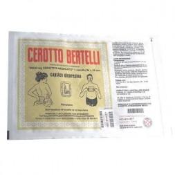 Cerotto Bertelli Grande 24 X 16 cm 368,6 mg Capsico Oleoresina 1 cerotto