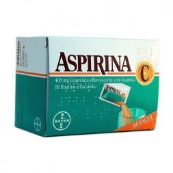 Aspirina C Granulato 400 mg Acido acetilsalicilico 10 Bustine Arancia