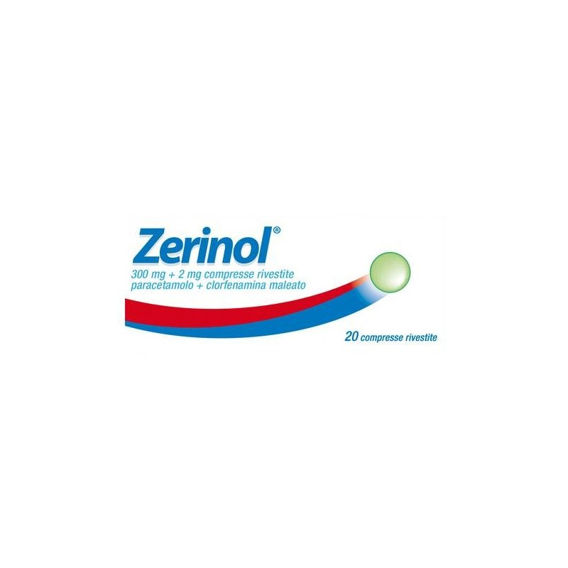 Zerinol 20 Compresse Rivestite 300 mg + 2 mg