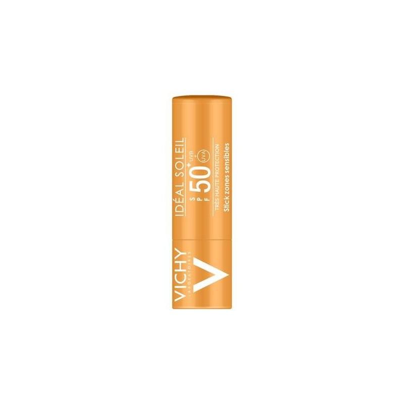 Vichy Ideal Soleil Stick Solare Zone Sensibili SPF 50+ Protezione Molto Alta 9g