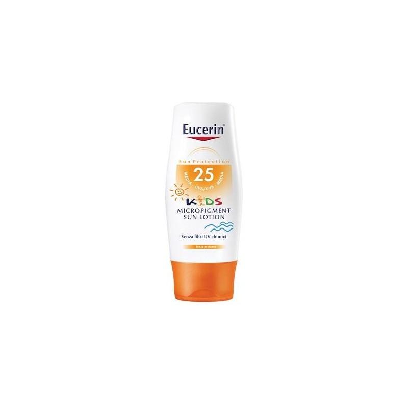 Eucerin Sun Kids Lozione Solare Bambini Micropigmentante SPF 25 Protezione Media 150 ml