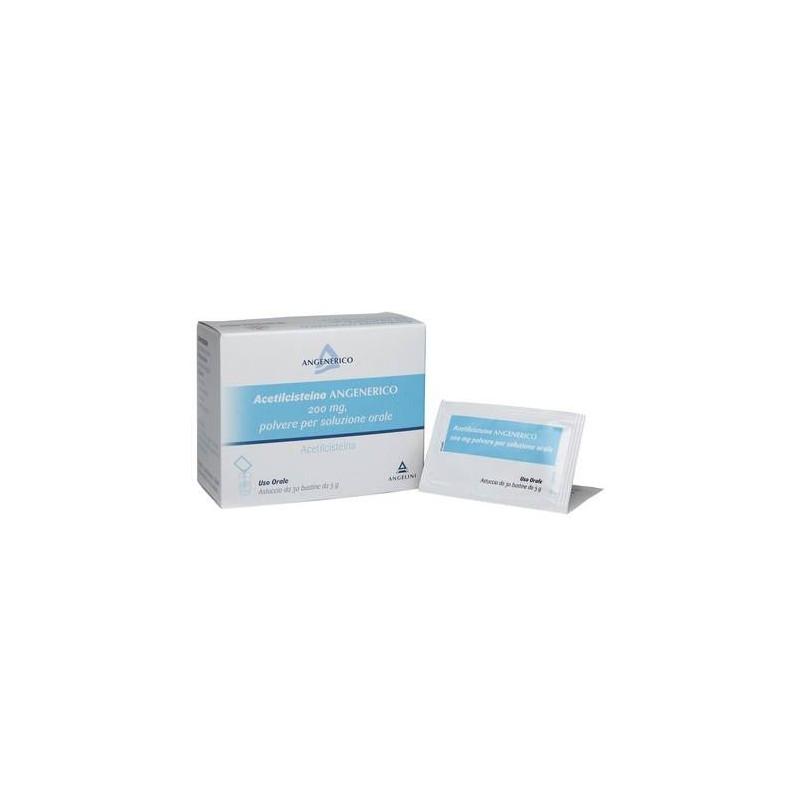 Acetilcisteina Angenerico 30 Bustine 200 mg